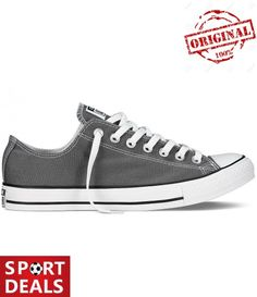 Converse CHUCK TAYLOR ALL STAR OX LOW YOUTH. This pair of Chuck Taylor All Star Ox trainers from Converse have lovely canvas uppers, white laces and thick soles; Black Evening Shoes, Black Lace Shoes, Black Leather Sneakers, Black Oxfords, Tenis Converse, Grey Converse, Converse Shoes, Shoes Sneakers, Converse Trainers