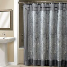 Add a touch of opulence to any bathroom with the Croscill Talyn Shower Curtain #croscill #homedecor