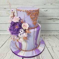 Purple, white and rose gold😍#birthday #birthdaycake #cakesintoronto#cakestoronto#moderncake #weddingcake#wedding#partytime#customcakes #christinemolds#cakebakeoffng #luxurycake #luxurycakesca#luxurycakes #cakeartist #torontocakes #torontocakeartist #cakedecorator