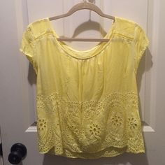Yellow Abercrombie Off the Shoulder Top In good condition Abercrombie & Fitch Tops Blouses