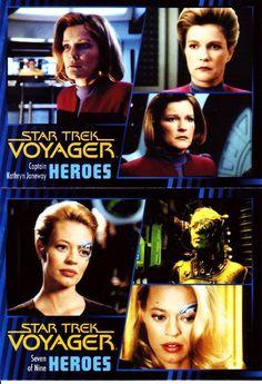 Star Trek Voyager Heroes Villains Complete Base Set 99 Cards Plus Promo P1 | eBay