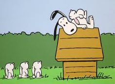<3 it when snoopy goes dancing with the bunnies!