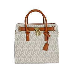 MICHAEL Michael Kors Women's Hamilton Large North/South Tote-Vanilla, One Size