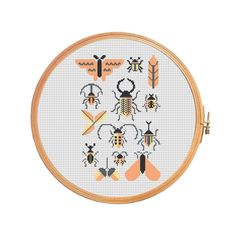 Beetles and moths cross stitch pattern by PatternsCrossStitch
