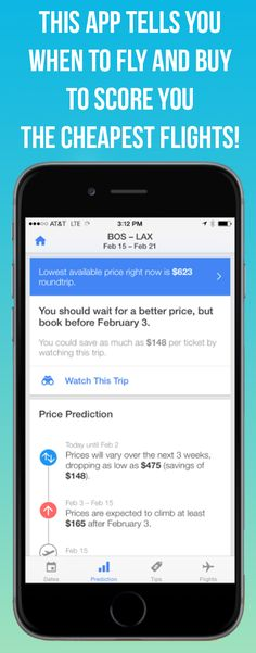 Hopper tells you when to fly and buy and scores you the lowest fares.