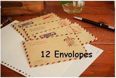 Menge: 1set (12 Briefumschläge - 4 Muster x 3 Stück) Material: Papier Größe: 11 x 16.2cm Es ist Zeit für Ihre kreative fly: D Vielen Dank für