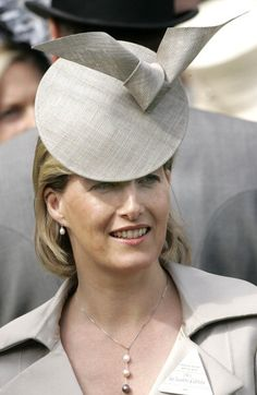 Posted on November 4, 2013 by HatQueen....The Countess of Wessex, June 10, 2007, in a Philip Treacy hat.