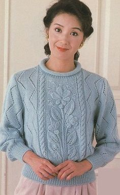 Crochet patterns for women tips 63 best ideas Sweater Knitting Patterns, Knitting Stitches, Knit Patterns, Free Knitting, Baby Knitting, Tricot D'art, Crochet Clothes, Pulls, Knitting Projects
