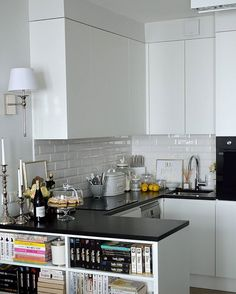tiny white&black kitchen :-)