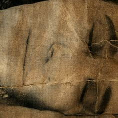 Hand painted photograph with ochre, printed on butchers paper. By Teena McCarthy COFA 2013