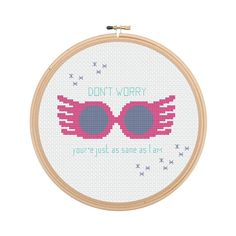 Luna Lovegood Glasses Harry Potter Cross Stitch Pattern