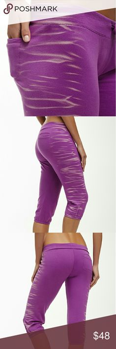 Hamilton Sweatpants/ Fabletics Brand new with tags A beautiful purple color as you can see by pictures.  Cozy french Terry fabric,  adjustable drawstring waist, Elastic at leg opening,  single back pocket.  95% cotton and 5% elastane FABLETICS  Pants Capris
