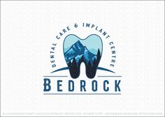 Logo for sale by Melanie D: Bold dental themed tooth logo design. The design features a beautiful natural scenic mountain and tree landscape, designed within a molar tooth shape. Dentist Logo, Teeth Logo, Molar Tooth, Office Logo, Teeth Shape, Logo Design, Graphic Design, Dentistry, Dental