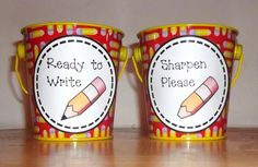 I'm doing pencil buckets this year, and these little signs are perfect!