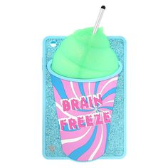 "<P>You won't get brain freeze from this frosty case. Shaped like a delicious frozen beverage, this blue glitter Katy Perry iPad Mini cover features a swirly cup that reads ""Brain Freeze"" filled with iridescent green slushy. The straw is a touch screen stylus pen. Part of the PRISM collection.</P><UL><LI>Exclusively by Claire's<LI>Includes touch screen stylus pen<LI>Measurements: 3 5/8""L x 7 1/8""H<LI>Fits iPhone 6<LI>Materials: Silicone</LI></UL>"
