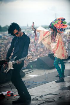 Karen O and Nick Zinner #yeah #yeah #yeah