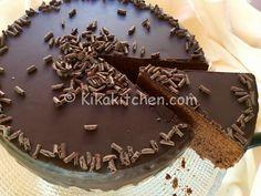 torta al cioccolato glassata