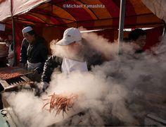 Street food vendor: grilled squid on a stick #Beijing in #winter. #china #streetfood @thephotosociety @natgeo @natgeocreative by yamashitaphoto