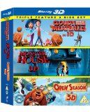 Cloudy With a Chance of Meatballs/ Monster House / Open Season Triple Pack (Blu-ray 3D)[Region Free]