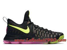 the best attitude 6501e 8341a Nike KD 9 Unlimited 843392-999 Chaussures Nike Basket Pas Cher Pour Homme  Noir Vert