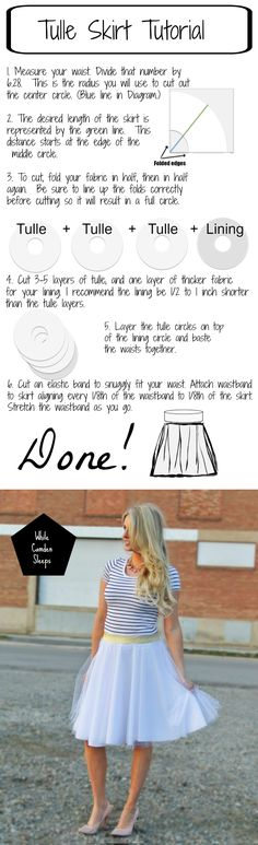 "The Lazy, or ""efficient"" way to make a diy tulle skirt"