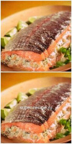 Горбуша, фаршированная сыром и грибами - фиш. Basa Fish Recipes, Chicken Nugget Recipes, Asian Chicken Recipes, Hot Dog Recipes, Salmon Recipes, Meat Recipes, Seafood Recipes, Cooking Recipes, Healthy Recipes