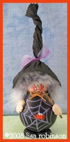 PDF ePattern HaLLoWeEn WiTcH rEcYcLeD LiGhT BuLb by primchick, $7.50