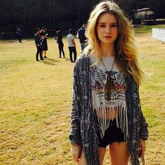 Lottie Moss looks boho chic