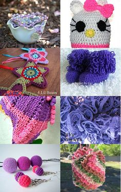 Purples and Pinks to Delight by LINDA on Etsy--Pinned with TreasuryPin.com
