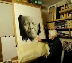 Paul Emsley - a portrait of Nelson Mandela - Brundyn+Gonsalves (Formerly iArt)