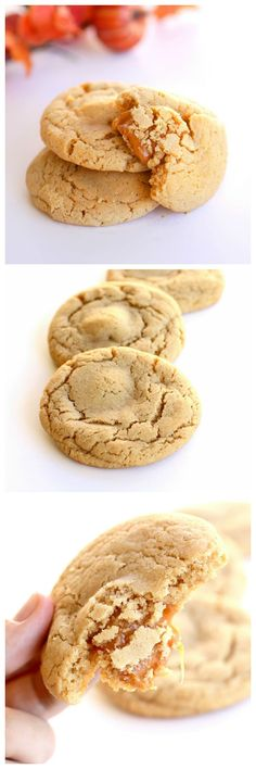 Caramel Apple Cider Cookies - filled with apple cider flavor and stuffed with caramel.