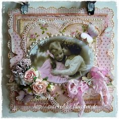 Vintage Card by LLC DT Member Tina Klix, using papers from Pion Design's My precious Daughter colletion.