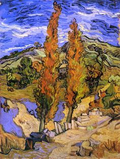 Vincent van Gogh: The Paintings (Two Poplars on a Road Through the Hills) Van Gogh is my favorite.Vincent van Gogh: The Paintings (Two Poplars on a Road Through the Hills) Van Gogh is my favorite. Vincent Van Gogh, Art Van, Van Gogh Museum, Art Museum, Van Gogh Arte, Van Gogh Pinturas, Cleveland Museum Of Art, Cleveland Ohio, Van Gogh Paintings
