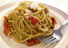 Beet Greens Pesto with Pasta #MeatlessMonday