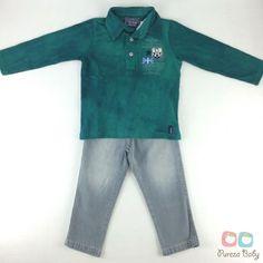 #LiquidaOutonoInverno2015  Conjunto Polo e Calça jeans Art Kids