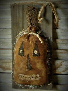Primitive Hanging Pumpkin Jack