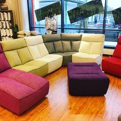 Lemon modulisohva. Leiki väreillä vapaasti! Sectional, Decor, Sofa, Furniture, Sectional Couch, Home Decor