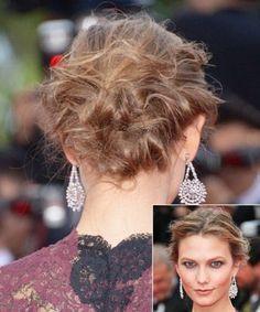 Karlie Kloss' Couture Messy Bun