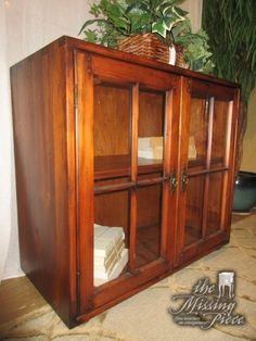 two door glass front cabinet in a warm medium finish this is a great piece for a living room or a bedroom nice and simple measures x x arrived tuesday - Glass Front Living Room 2016