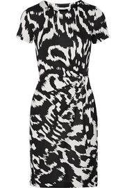 Diane von FurstenbergZoe gathered printed silk-jersey dress