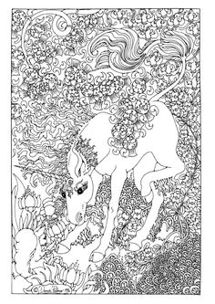 Detailed Coloring Pages For Adults | Coloring page Unicorn - img 9209.