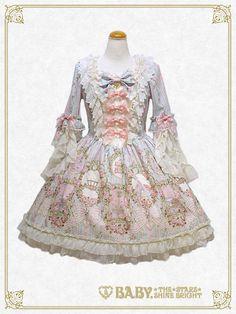 Baby, the stars shine bright Marie Antoinette~Splendid portrait of beauty queen~one piece dress