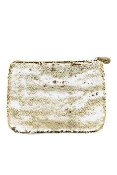 available in a gorgeous pewter/silver too. love this all-over sequin pouch! // $38. Fashion Bags, New Fashion, Design Palette, Gold Gilding, Beautiful Bags, You Bag, Pewter, How To Make, How To Wear