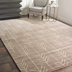 Hand Tufted Arrow Rug.Wool.  8x10 $729