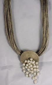 Fiber Art Jewelry, Rope Jewelry, Funky Jewelry, Textile Jewelry, Fabric Jewelry, Leather Jewelry, Jewelry Crafts, Beaded Jewelry, Jewelery
