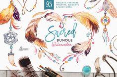 Sacred. Watercolor Tribal Bundle by OctopusArtis ~ Illustrations on Creative Market