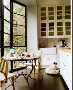 Great kitchen, great dog! Nate Berkus Designs.