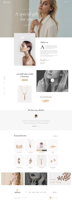 Bonfire is a creative, versatile # Photoshop template # web design for a range of . - inspiration - web design - jewelry - Bonfire is a creative, versatile for a range of … – Inspiration - Web And App Design, Minimal Web Design, Web Design Trends, Fashion Web Design, Fashion Site, Trendy Fashion, Portfolio Design Layouts, Layout Design, Portfolio D'architecture