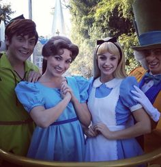 Peter, Wendy, Alice, Mad Hatter