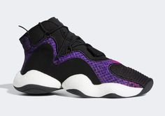 1201ae947 The adidas Crazy BYW Arrives In Purple Snakeskin Dad Sneakers